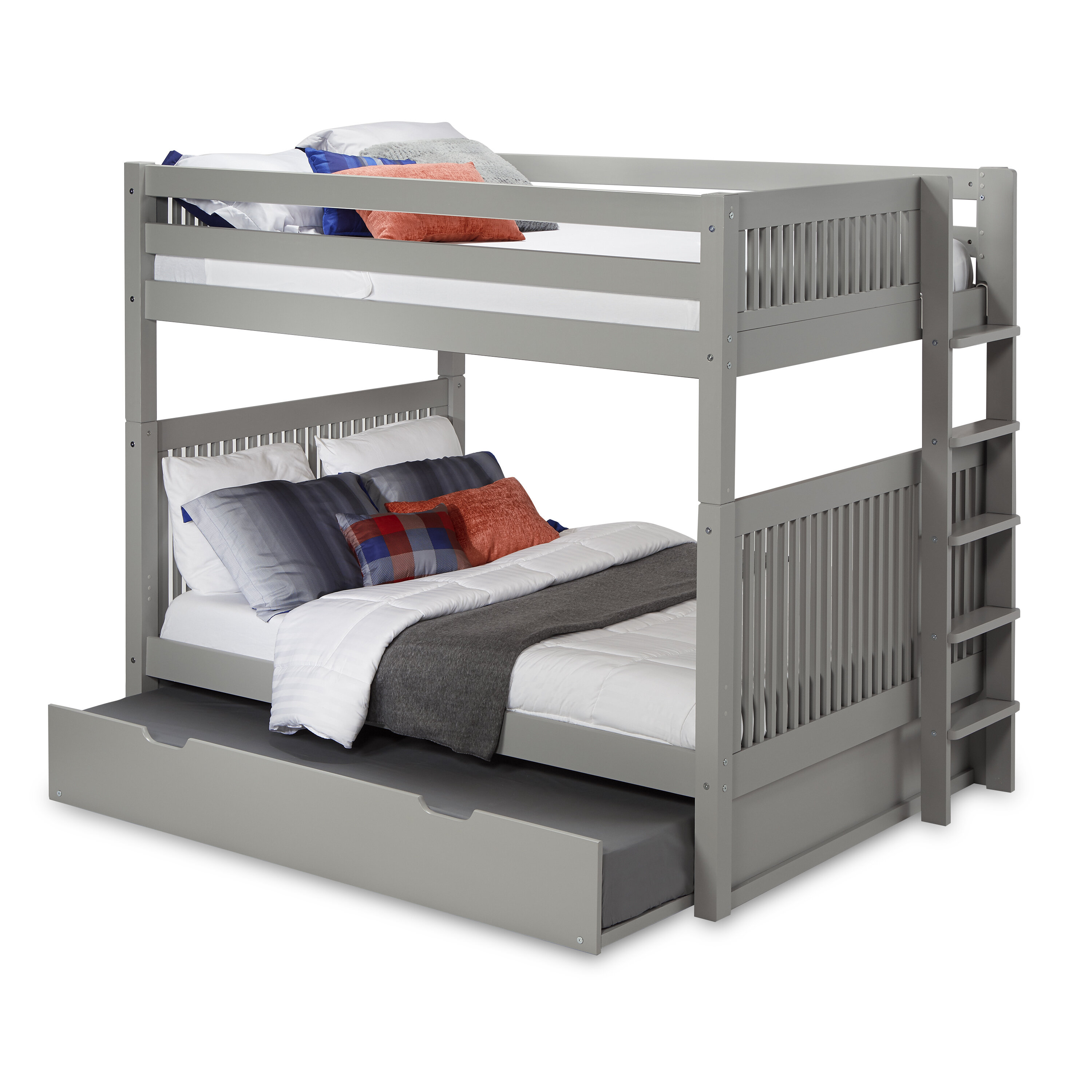 Rabon Full Over Full Bunk Bed With Trundle Reviews Allmodern