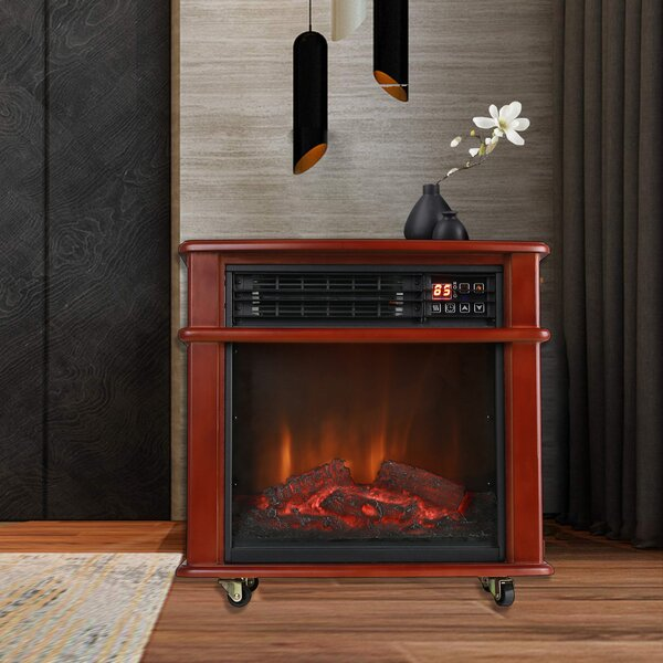 Infrared Quartz Electric Freestanding Insert Heater By Caesar Fireplace