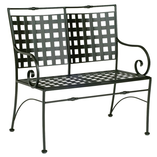 Sheffield Garden Bench with Cushion by Woodard