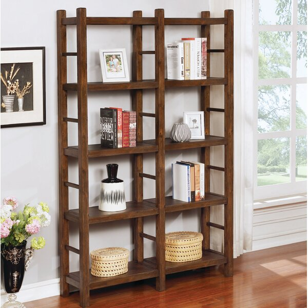 Virgie Gaffney Double Etagere Bookcase By Millwood Pines