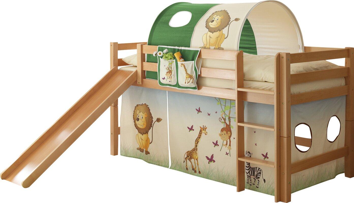 ticaa halbhochbett tau mit rutsche 90 x 200 cm bewertungen. Black Bedroom Furniture Sets. Home Design Ideas