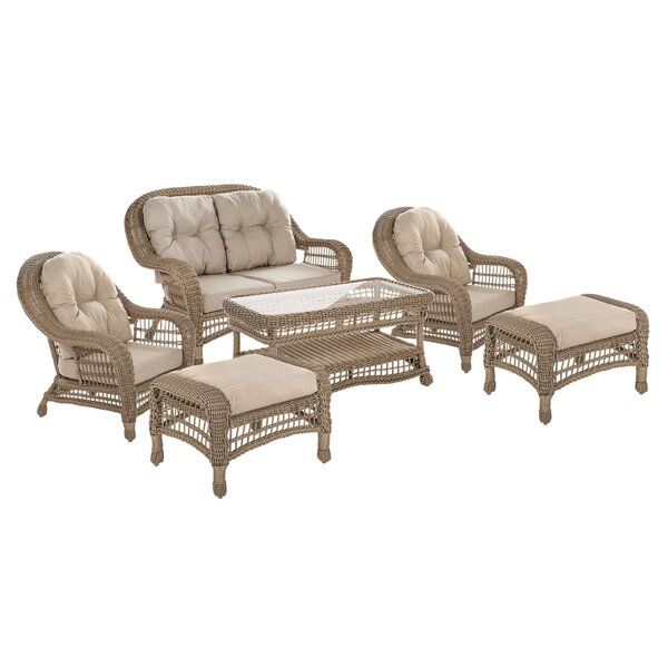 Villard 6 Piece Sofa Seating Group with Cushions by Ophelia & Co.