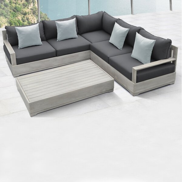 Benranda II 3 Piece Sectional Seating Group with Cushions by Ove Decors Ove Decors