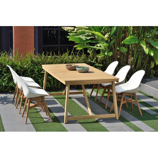 Darrah Patio 7 Piece Teak Dining Set by Brayden Studio