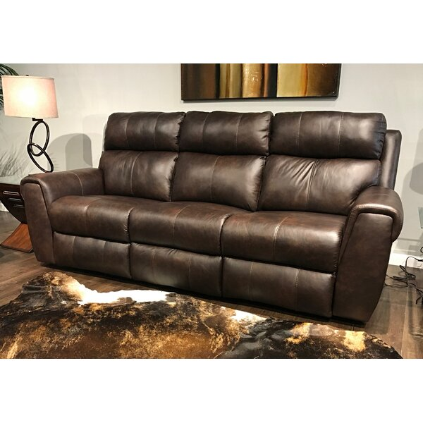 New Look Style Braxton Leather Reclining Sofa by Southern Motion by Southern Motion