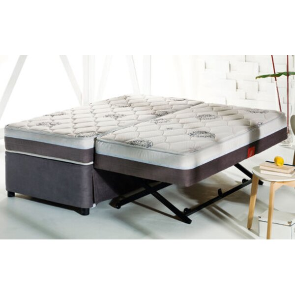 Morke High Riser Space Saver Upholstered Platform Bed with Mattress by Arsuite Arsuite
