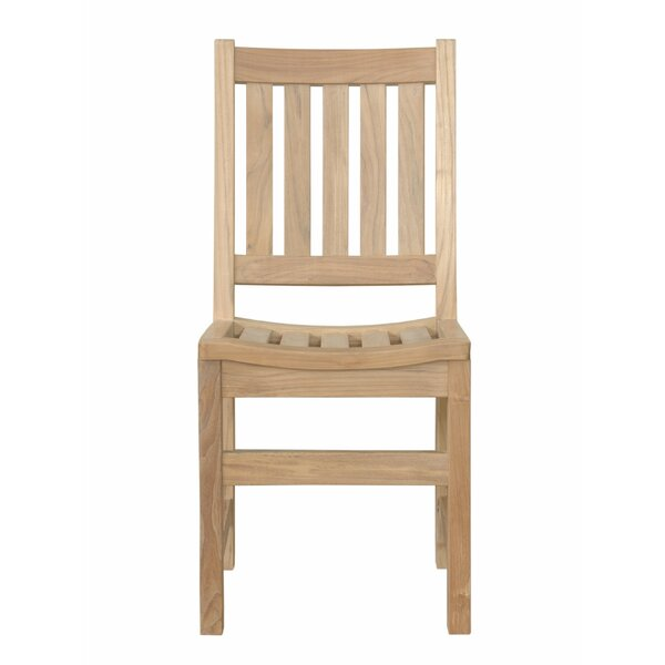 Alessio Teak Patio Dining Chair by Rosecliff Heights
