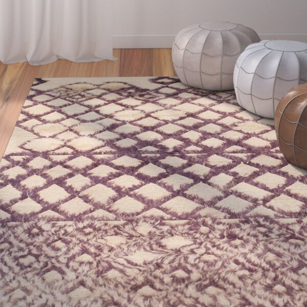 Princes Hand-Knotted Beige/Dark Gray Area Rug by Bungalow Rose