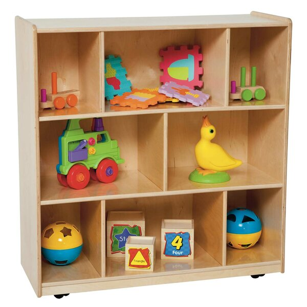 Center 8 Compartment Shelving Unit with Casters by Wood Designs