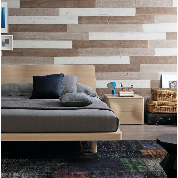 5 Solid Wood Wall Paneling in Sweetened Milk/Warm Sand/Old Brown by WoodyWalls