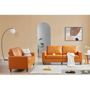 2 Piece Faux Leather Living Room Set by George Oliver