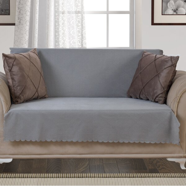 Pet Protector T-Cushion Loveseat Slipcover by August Grove