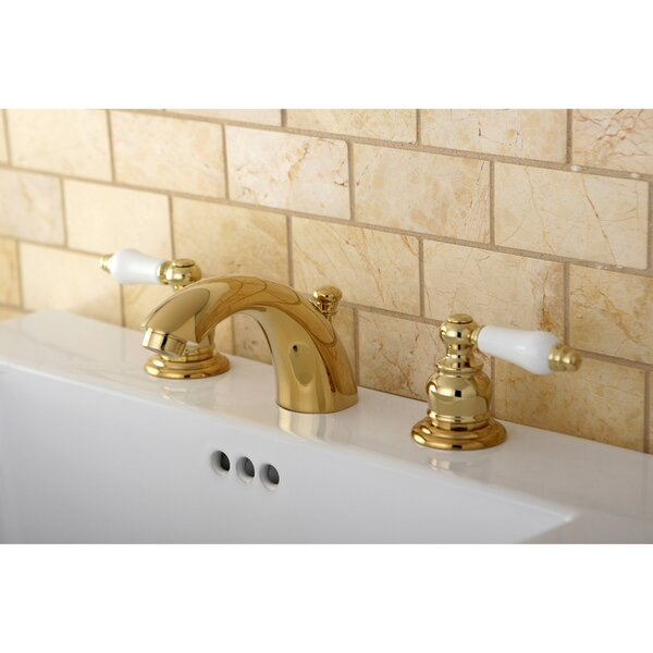 Victorian Widespread Bathroom Faucet with Drain Assembly by Kingston Brass Kingston Brass