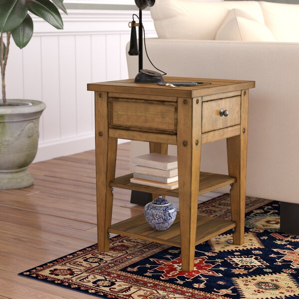 Review Kalene End Table With Storage