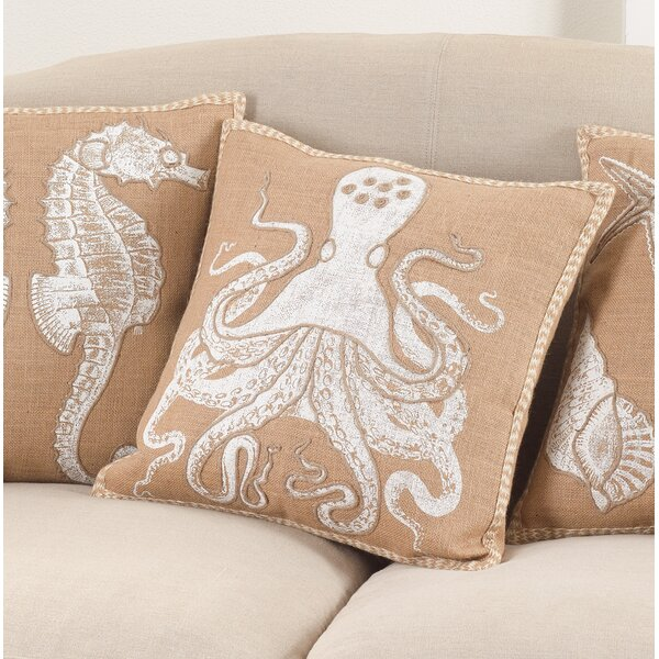 Aloisia Friendly Octopus Down Filled Throw Pillow by Highland Dunes