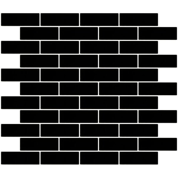 1 x 3 Glass Subway Tile in Black by Susan Jablon