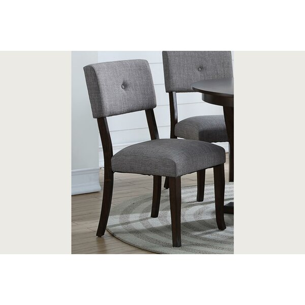 Levon Wood Side Upholstered Dining Chair (Set of 2) by Ebern Designs