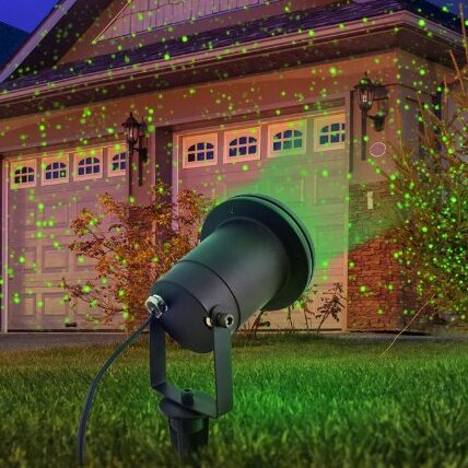 Indoor and Outdoor Garden Laser Light with Remote Control by The Holiday Aisle