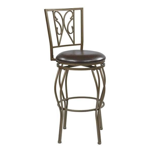 Hanaford 30 Swivel Bar Stool by Alcott Hill