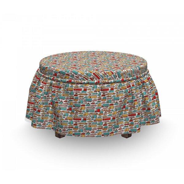 Cars Motorbikes Caravans Bus 2 Piece Box Cushion Ottoman Slipcover Set By East Urban Home