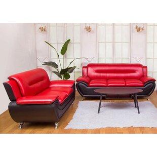 Petras 2 Piece Faux Leather Living Room Set by Orren Ellis