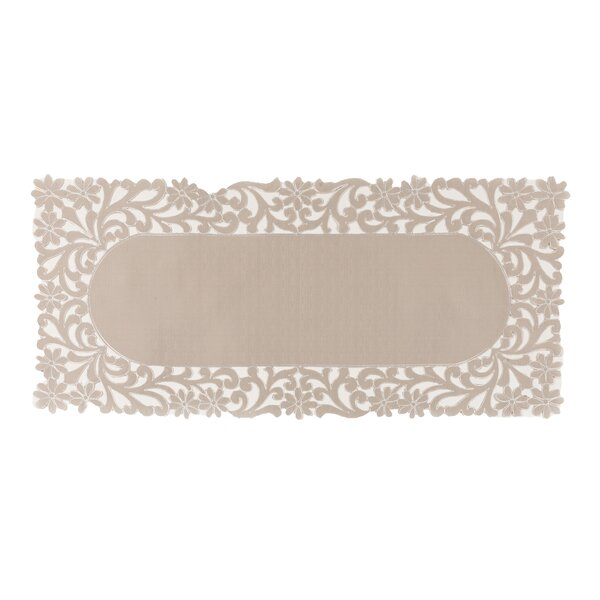 Kurth Florence Floral Cutwork Trimmed Edge Table Runner by Ophelia & Co.