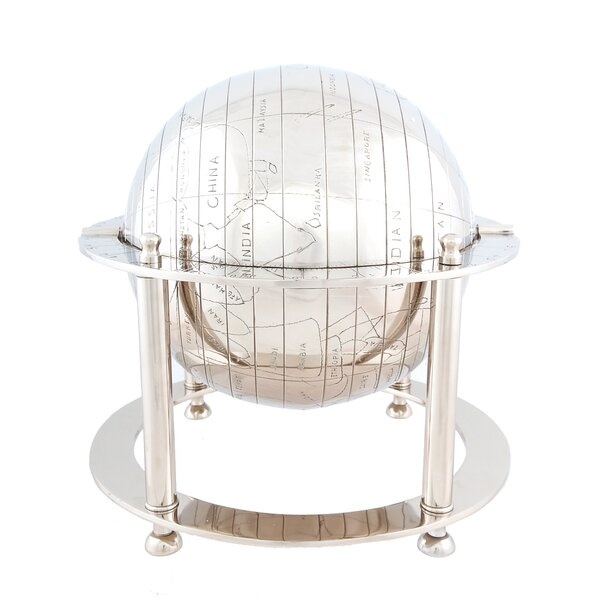 Aluminium Globe by Old Modern Handicrafts