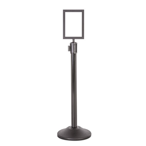 Steel Stanchion Sign Holder by US Weight