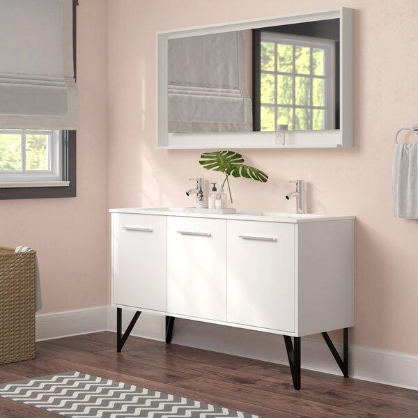 Almaraz 59 Double Bathroom Vanity Set with Mirror by Langley Street