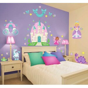 Princess Camryn Super Jumbo Appliqué Wall Decal by Borders Unlimited