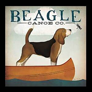 'Beagle Canoe Company' by Ryan Fowler Framed Vintage Advertisement by Buy Art For Less