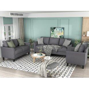3 Polyester-Blend Piece Living Room Set by Red Barrel Studio®