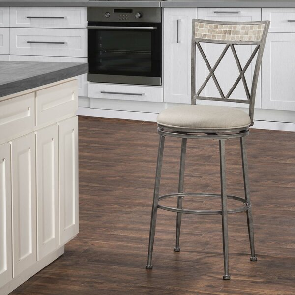 Adriane 30 Swivel Indoor/Outdoor Patio Bar Stool by Darby Home Co