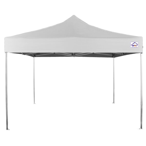 10 Ft. W x 10 Ft. D Aluminum Pop-Up Canopy by Impact Instant Canopy
