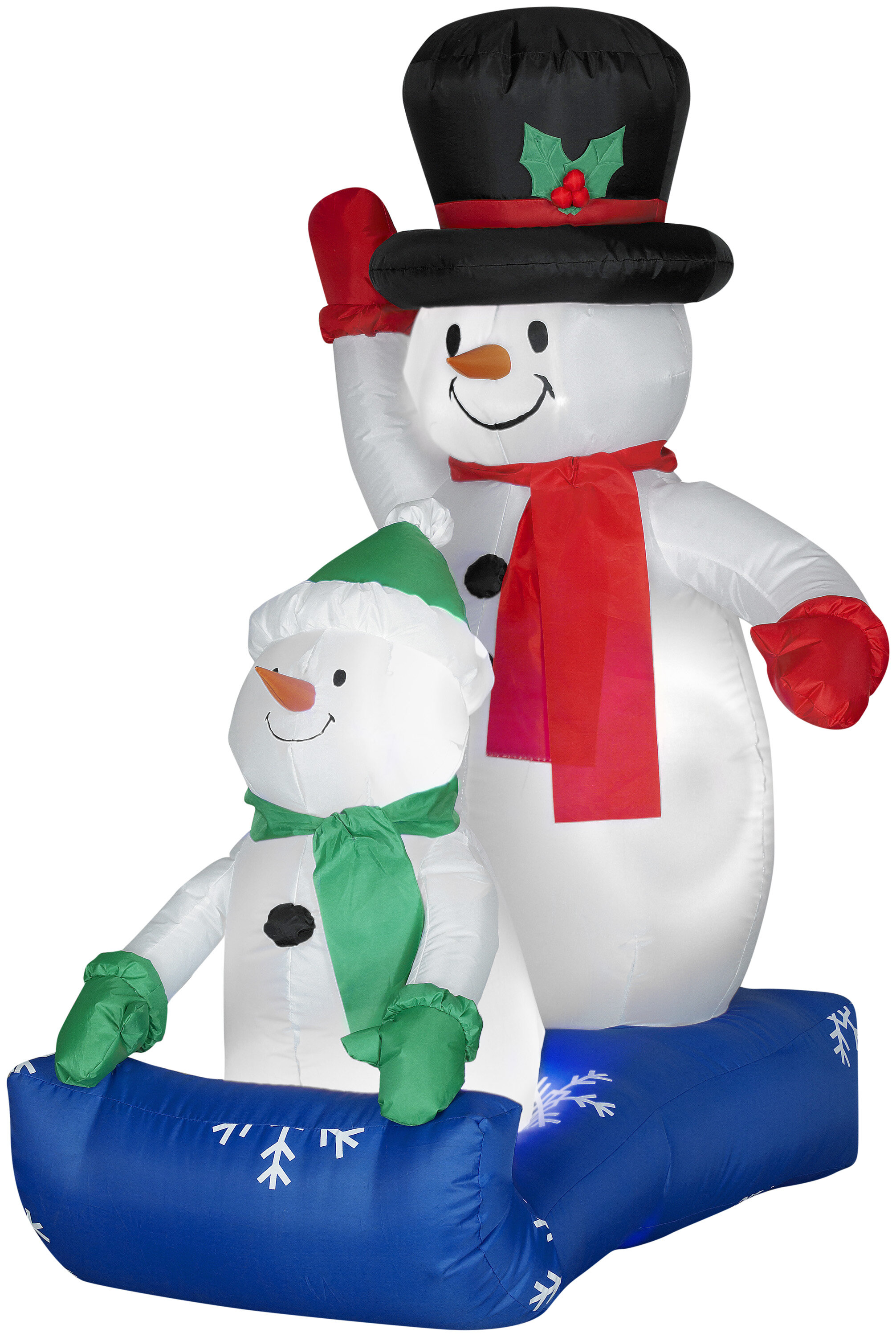 The Holiday Aisle Father and Child Snowman Scene Christmas ...