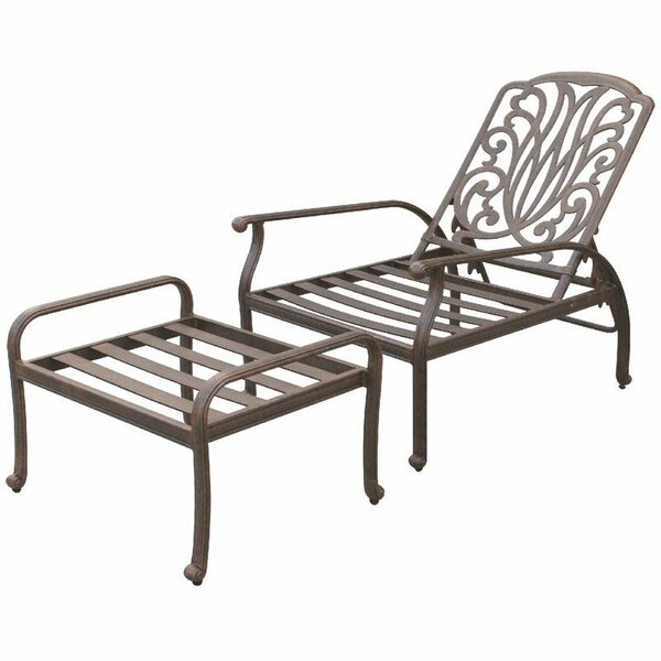 Lebanon Adjustable Club Chair with Ottoman by Three Posts