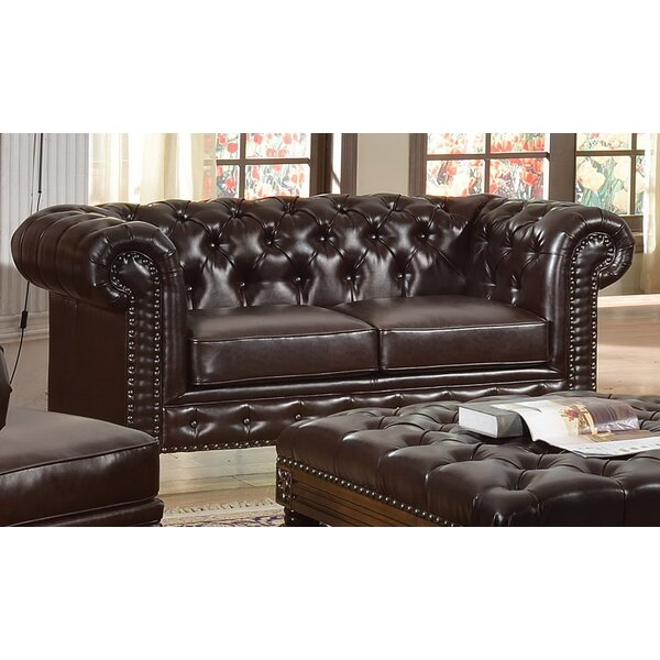 Orozco Chesterfield Loveseat by Canora Grey