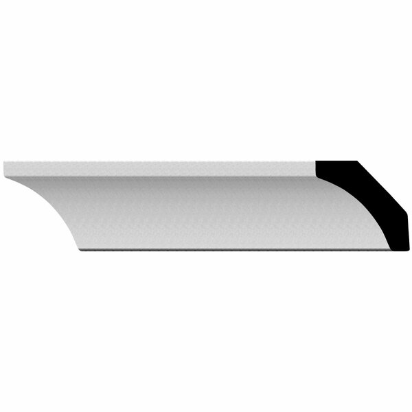 Traditional 1 1/8 H x 94 1/2 W x 1 1/8 D Crown Molding by Ekena Millwork