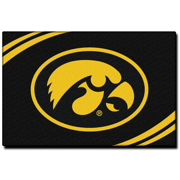 Collegiate Iowa Black Area Rug by Northwest Co.