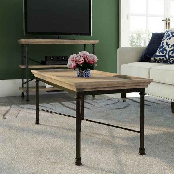 Coffee Table With.Oakside Coffee Table With Tray Top By Three Posts By Three Posts