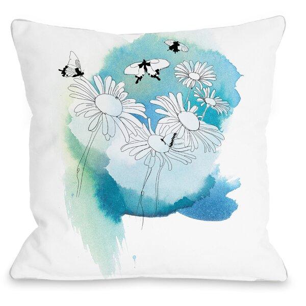 Daisies Throw Pillow by One Bella Casa