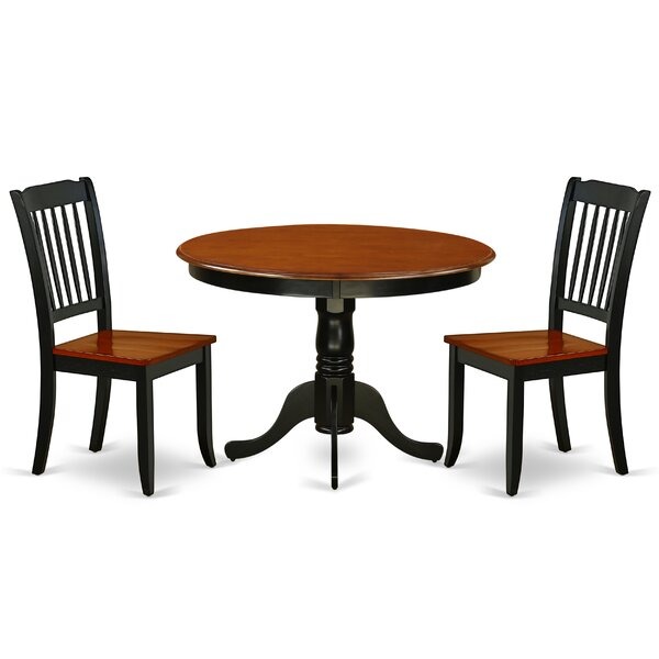 Landaverde 3 Piece Solid Wood Dining Set by August Grove