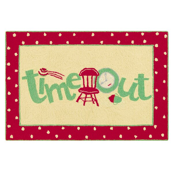 Dunand Time Out Wool Red Area Rug by Zoomie Kids