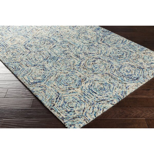 Bryant Hand-Hooked Blue Area Rug by Latitude Run