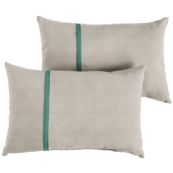 Hocker Indoor/Outdoor Lumbar Pillow (Set of 2) by Latitude Run