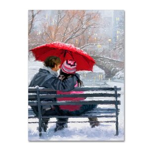 'Couple on Bench' Print on Canvas by Trademark Fine Art