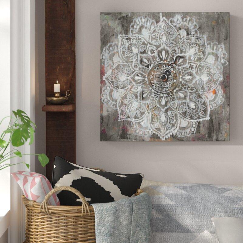 Mandala Wall Decorations - Mandala In Neutral II by Danhui Nai -Spiritual Mandala Print on Canvas