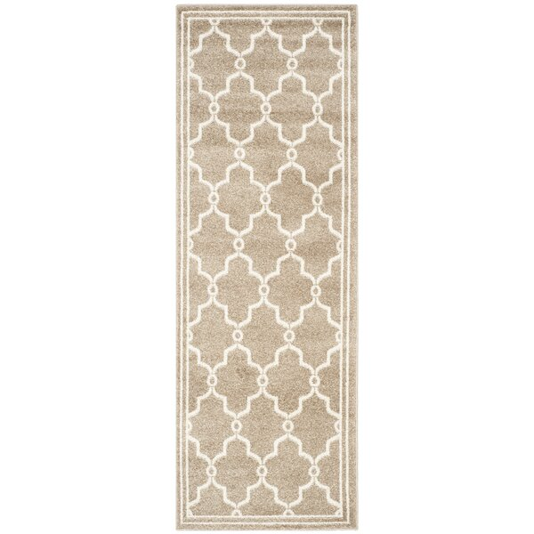 Wason Geometric Wheat/Beige Indoor/Outdoor Area Rug by Three Posts