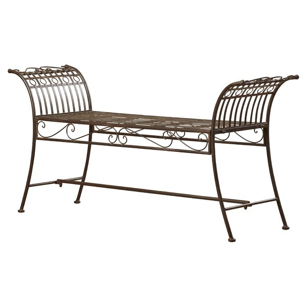 Lemieux Iron Bedroom Bench by Lark Manor