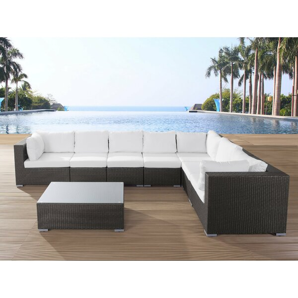 Haynie 8 Piece Sectional Seating Group with Cushions by Orren Ellis